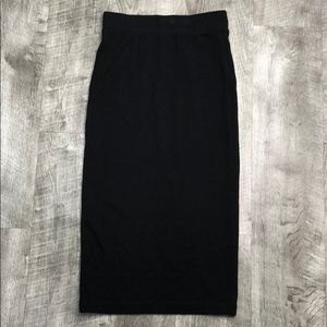 H&M cotton basic pencil skirt XS